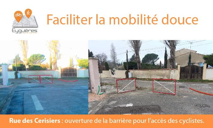 MOBILITÉ DOUCE – Rue des Cerisiers – 10/03/21