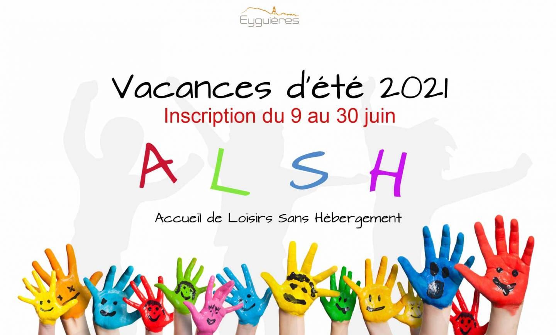 INSCRIPTION ALSH VACANCES D'ÉTÉ 2021 – 11/06/2021