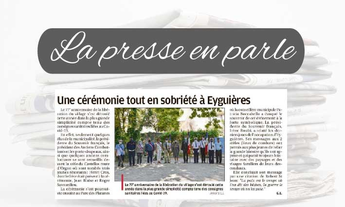 La Presse en parle <br> 28/08/21