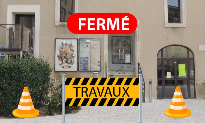 Cinéma fermé pour travaux <br> 30/09/21